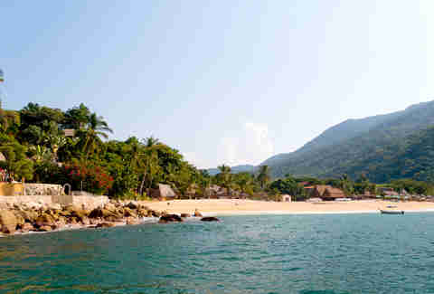beach and water in Yelapa
