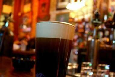 Glass of beer at Kerry Irish pub