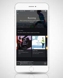screenshot of Spotify Running playlist on iPhone 6s