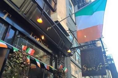 exterior of Swift Hibernation Lounge best Irish bars in NYC New York City