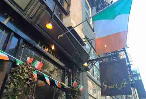 exterior of Swift Hibernation Lounge best Irish bars in NYC New York City