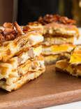Thrillist recipe waffle breakfast sandwich