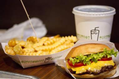 Shake Shack Burger Fries Drink