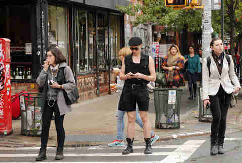 Hipsters in williamsburg, brooklyn
