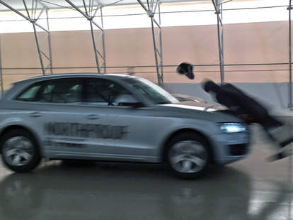 A Dummy Getting Hit by an Audi