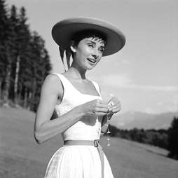 Audrey Hepburn outside