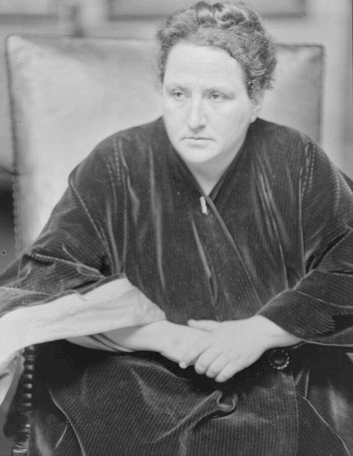 Contemplative Gertrude Stein