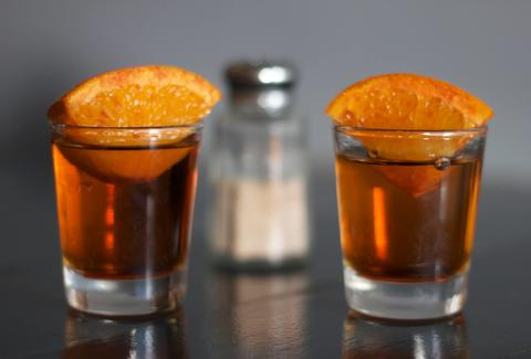 two shots with orange slices and salt shaker best pop-up dinners in Chicago