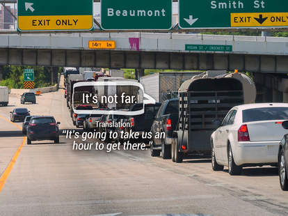 Picture of Houston highway with text overlay