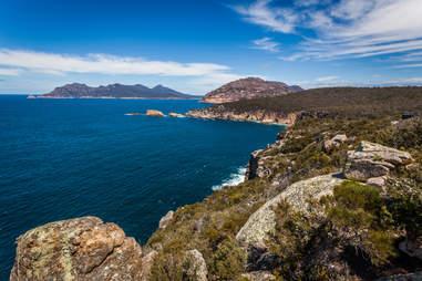 coastline of Tasmania, Australia