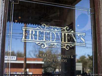 freedmen's austin texas sign exterior