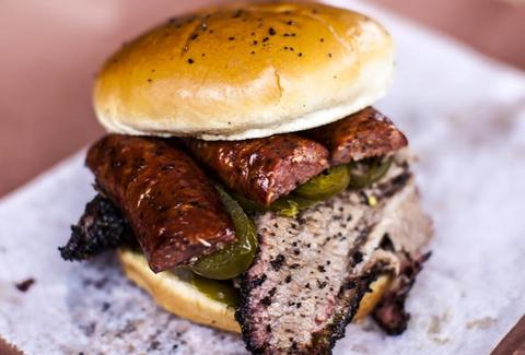 a BBQ sandwich from Stiles Switch BBQ austin