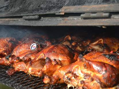 bbq chicken at The Smoke Pit