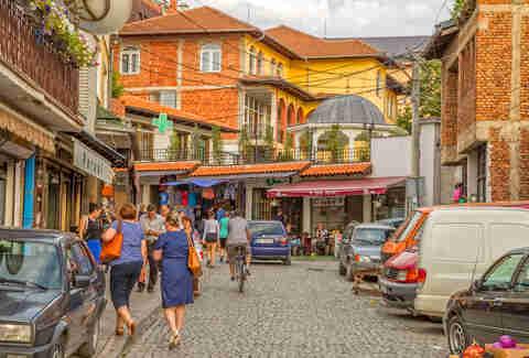 streets of Prishtina, Kosovo