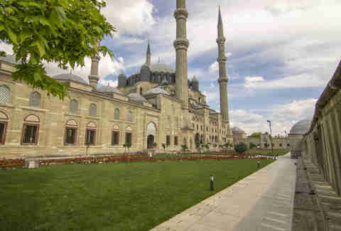 Exterior of Selimiye Mosque, Edirne, Turkey