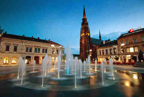 Osijek, Croatia city square