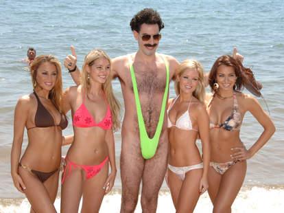 Sacha Baron Cohen as Borat in Cannes