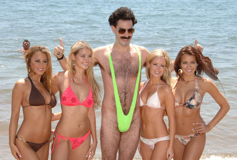 Sacha Baron Cohen as Borat in Cannes