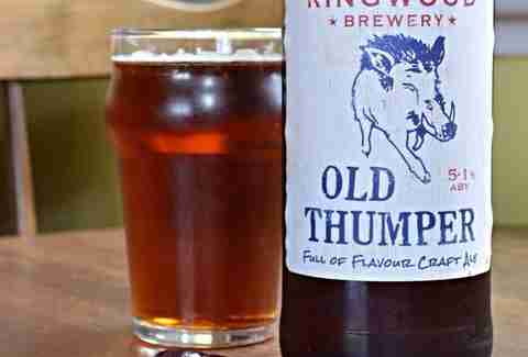 Ringwood Brewery Old Thumper beer