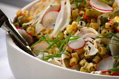 macaroni salad with radish from Salt & Saffron