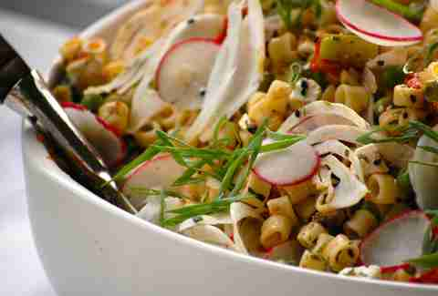 macaroni salad with radish from Salt & Saffron