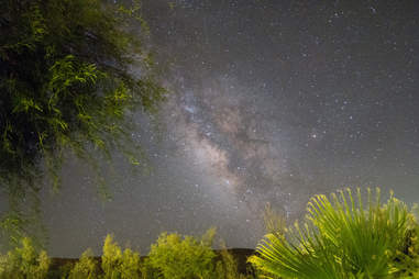 the milky way, San Diego Road Trips, Palm Canyon Hotel