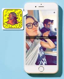 Kate Hudson on Snapchat