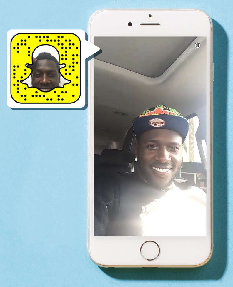 Antonio Brown on Snapchat