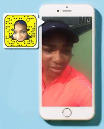Serena Williams on Snapchat