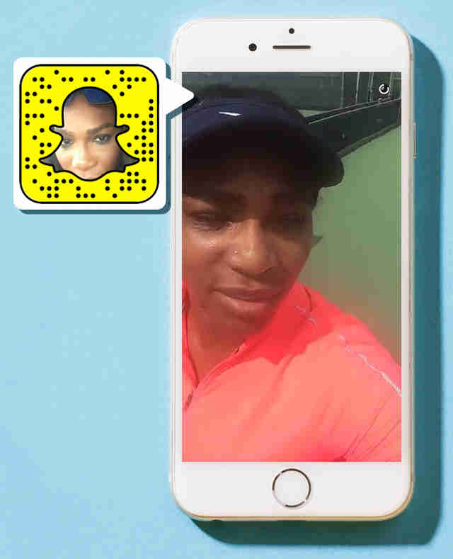Serena Williams on Snapchat