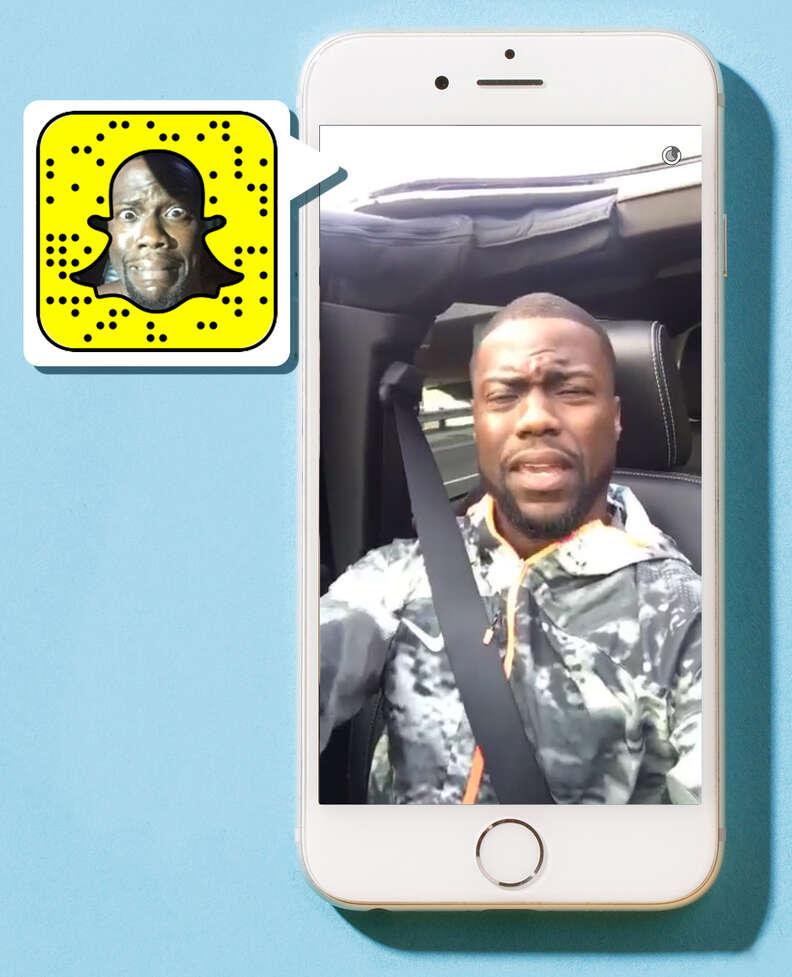 Kevin Hart on Snapchat