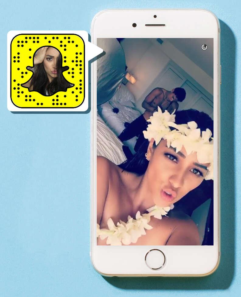 Shay Mitchell on Snapchat