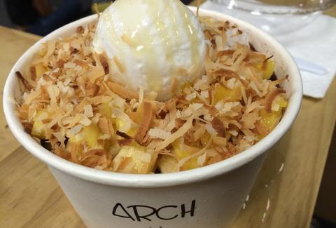 acai bowl with coconut from arch