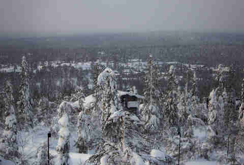 Ivalo Finland is like a snow globe.