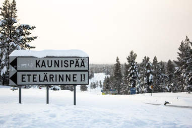 Leaving Ivalo, Finland