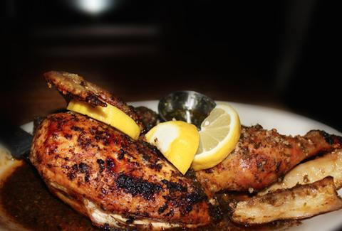 roasted chicken with lemon at tango sur