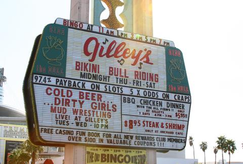 Gilley's las vegas sign