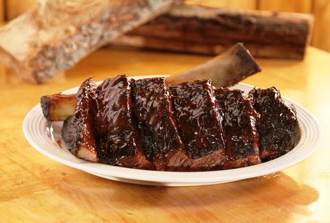rack of ribs at Daisy Mays