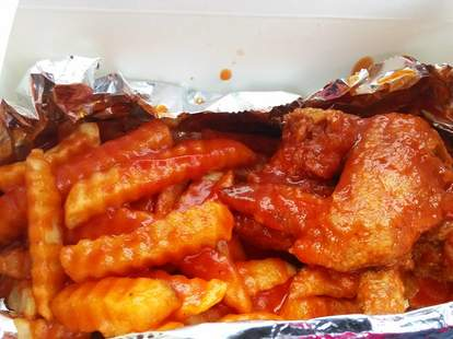 hot sauce williams bbq fries ketchup