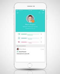 Peeple app profile in an iPhone screen