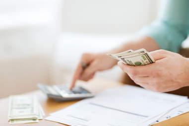 organizing finances and saving  money