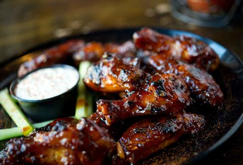 bbq wings at dinosaur bar-b-que