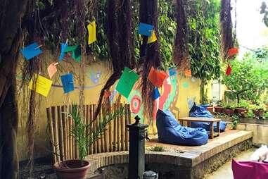 the beehive rome hostel garden best hostels