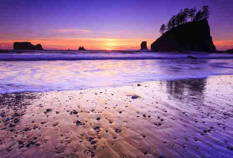 la push washington, sunset beach