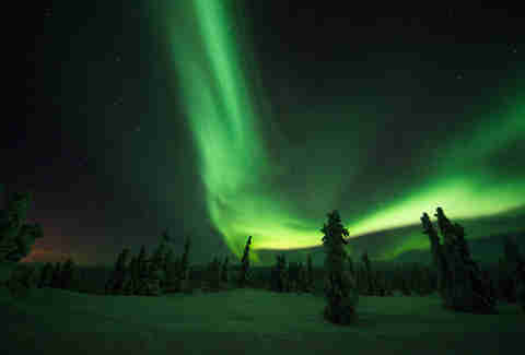 chena hot springs, alaska, northern lights