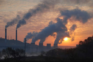 factory pipe, smog, air pollution