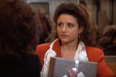 Julia Louis Dreyfus as Elaine on Seinfeld