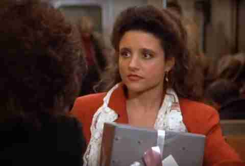 Julia Louis Dreyfus as Elaine on Seinfeld