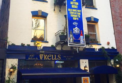 exterior of kells irish pub