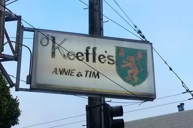 o'keefe's bar sign